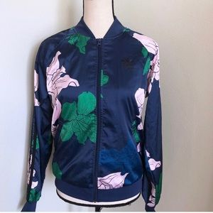 Adidas satin floral jacket